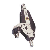 sailboat single block with swivel / becket / cam-cleat (max. rope ø : 14 mm) R5625 RWO