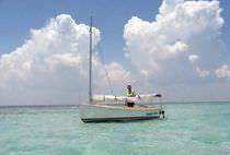sailboat : classic day-sailer (cat boat) PICNIC CAT Com-Pac Yachts