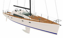 sailboat : cruising sailing-yacht (aluminium, deck saloon, twin steering wheel, teak deck) FUTUNA 50 FUTUNA YACHTS