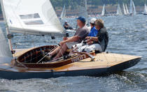 sailboat : racing keelboat DRAGON (ISAF international class) WOODEN Petticrows
