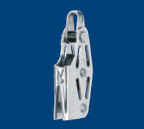 sailing dinghy single block with fixed head / becket / V-cleat (max. line ø : 6 mm) 35120 001 55 - BL = 700 KG Sprenger