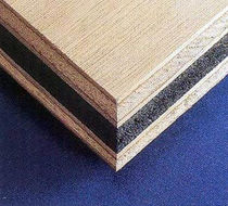 sandwich panel : plywood / rubber (soundproofing)  World Panel