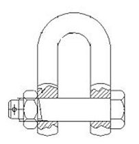 shackle for ship anchor chains (D type)  Griffin-Woodhouse