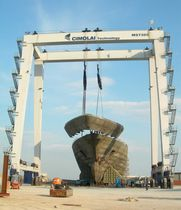 shipyard crane : gantry crane MST 320 - 11 CIMOLAI TECHNOLOGY SPA
