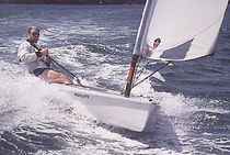 single-handed sailing dinghy : cat boat MEGA BYTE Performance sailcraft 2000