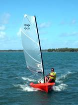 single-handed sailing dinghy : cat boat EX3 Sail Extreme