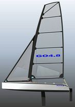 single-handed sailing dinghy : cat boat GO 4.8 FUN G.O Yachts Pty