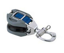 single snatch-block with swivelling snap shackle for sailboats (max. rope &oslash; : 16 mm) 1609 Harken