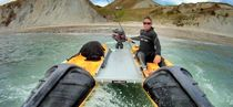 sit-on-top kayak : fishing kayak (motorized) WINGMAN Mission Kayaking