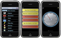 software for monitoring and alarm systems for boats (for iPhone) iSimon Palladium Technologies