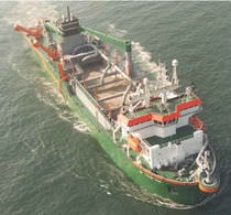 special vessel : trailing suction hopper dredger NB1031 - 13.700 DWT Shipyard DeHoop