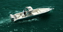 sport-fishing boat : outboard center console boat (triple engine, sundeck, T-Top) SEADAN 360XF Al Dhaen Craft