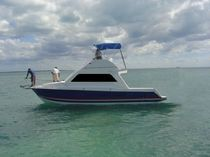 sport-fishing boat : flybridge express-cruiser  Industria Hidrodinamica SA de CV