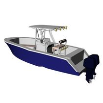 sport-fishing boat : outboard center console boat (twin engine, T-Top) P218 Mayrik Yacht Design