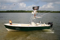 sport-fishing boat : outboard center console boat (twin engine, T-Top, flybridge) 30 PRO GUIDE Dorado