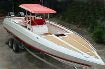 sport-fishing boat : outboard center console boat (twin engine, with cabin, T-Top) SEAMASTER 33 Coastal Boats
