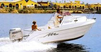 sport-fishing boat : outboard day-cruiser CABIN 540 Conero