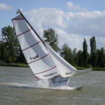 sport multihull sail : jib (HOBIE CAT 14)   Forward Sailing