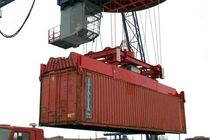 telescopic container spreader (for ship-to-shore crane) 20'-45' BALTKRAN
