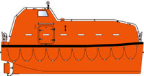 totally enclosed lifeboat for ships JYN 65 TELB - 36 P Norsafe