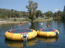water toy : trampoline 15' - 25' Custom Chutes Inc.