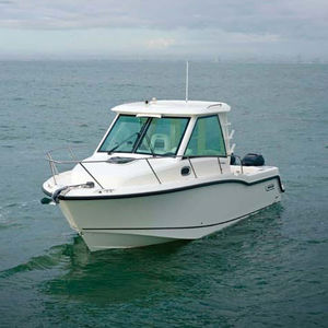 Beau Outboard Cabin Cruiser / Twin Engine / With Enclosed Cockpit / Sport Fishing