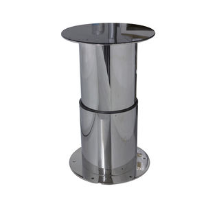 Adjustable Boat Table Pedestal / Telescopic / Electric / Stainless Steel