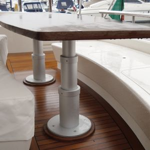 Adjustable table pedestal all boating and marine industry adjustable boat table pedestal hydraulic aluminum watchthetrailerfo