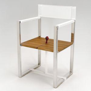 Boat Directoru0027s Chair / Folding / Teak / Stainless Steel