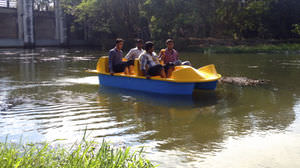 4-place pedal boat