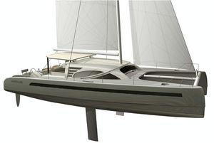 Catamaran sailboat / ocean cruising / 3 or 4 cabins