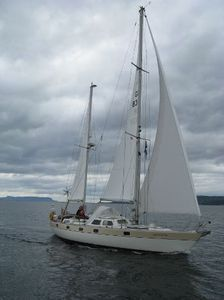 Sailboat in-boom furling system