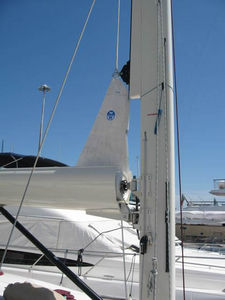 Sailboat in-boom furling system / carbon