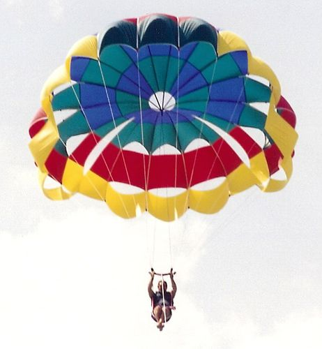 custom parasail / for high winds / for boat launch / 1-person