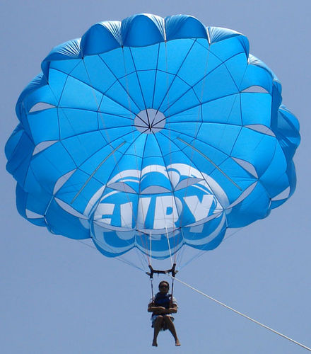 custom parasail / for high winds / for boat launch / 1/2-person