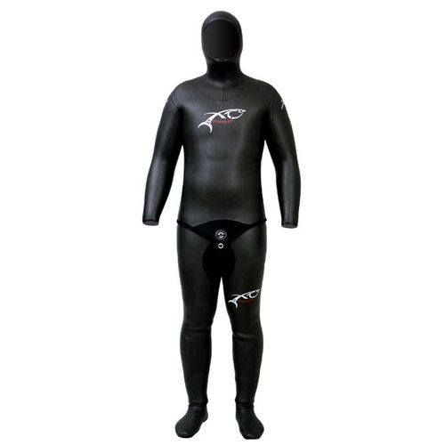 spearfishing wetsuit / with hood / two-piece / unisex