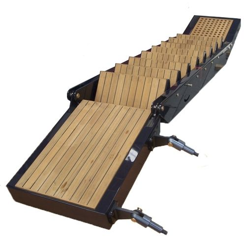 boat gangway / for yachts / folding / manual