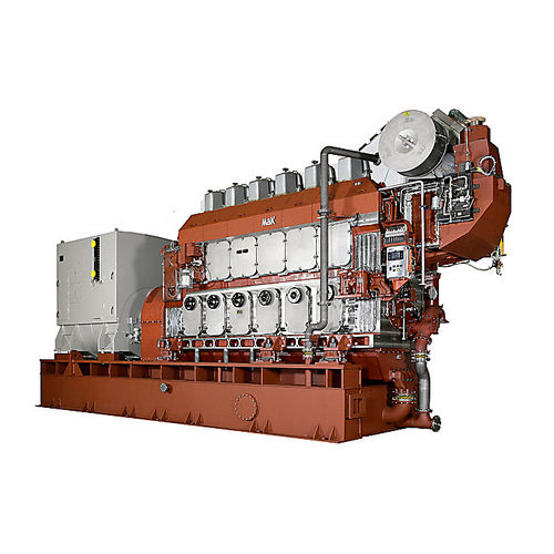 ship generator set / gas / medium-speed