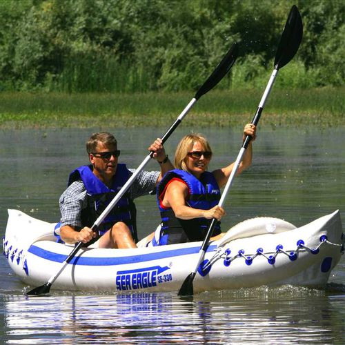 Sit-on-top kayak / inflatable / recreational / two-seater Sea Eagle 330 SeaEagle.com