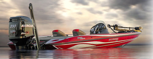 outboard bass boat / sport-fishing / high-performance