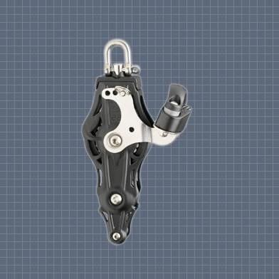 cam cleat block / fiddle / single / with swivel