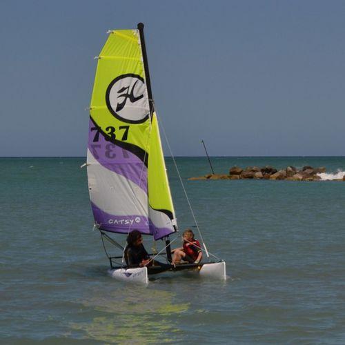 recreational sport catamaran / instructional / children's / disassemblable