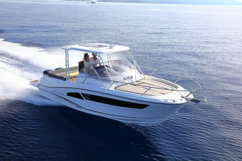 outboard walkaround / twin-engine / center console / with cabin