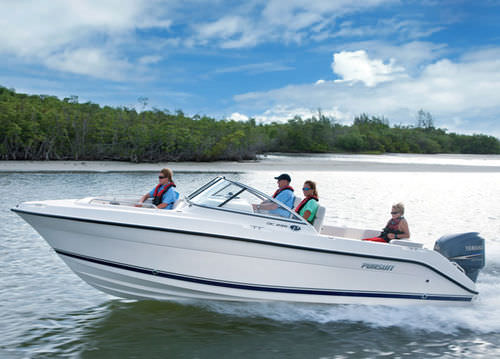 Outboard runabout / dual-console / sport-fishing DC 235 Pursuit Boats