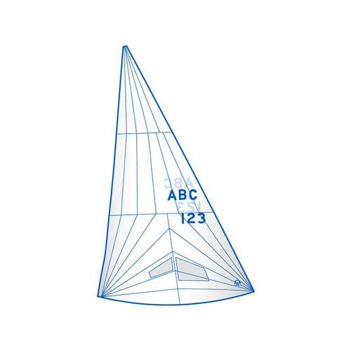 genoa / for one-design sport keelboats / J24 / tri-radial cut