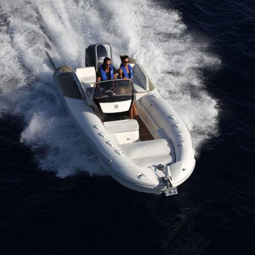 Outboard inflatable boat / semi-rigid / side console / sport N-ZO 680 ZODIAC