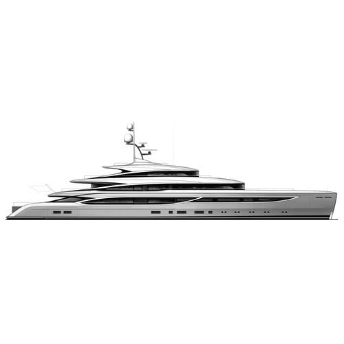 cruising mega-yacht / raised pilothouse / steel / aluminium