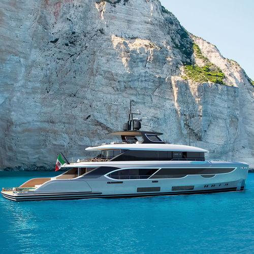 cruising super-yacht / wheelhouse