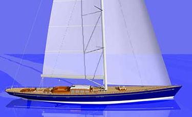 cruising sailing super-yacht / open transom / sloop