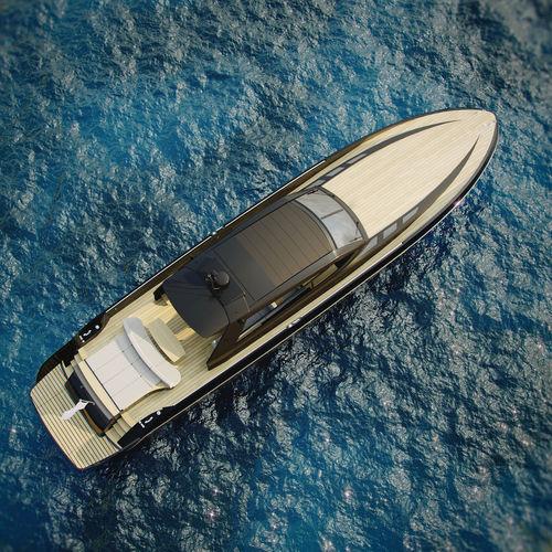 cruising motor yacht / hard-top / shaft drive / planing hull